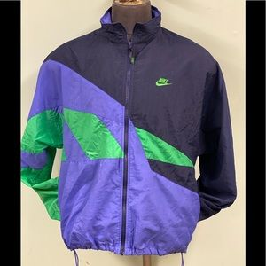 Vtg. Retro Nike Men's Full Zip Windbreaker XL